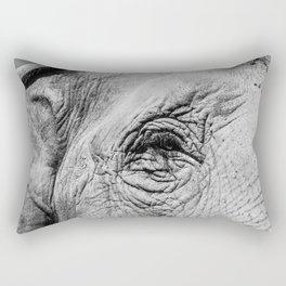 The eye of the Elephant Rectangular Pillow