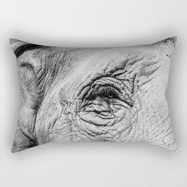 The eye of the Elephant Rectangular Pillow
