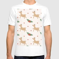 MERRY CHRISTMAS7 White MEDIUM Mens Fitted Tee