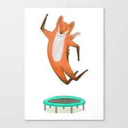 Trampolining Fox Canvas Print