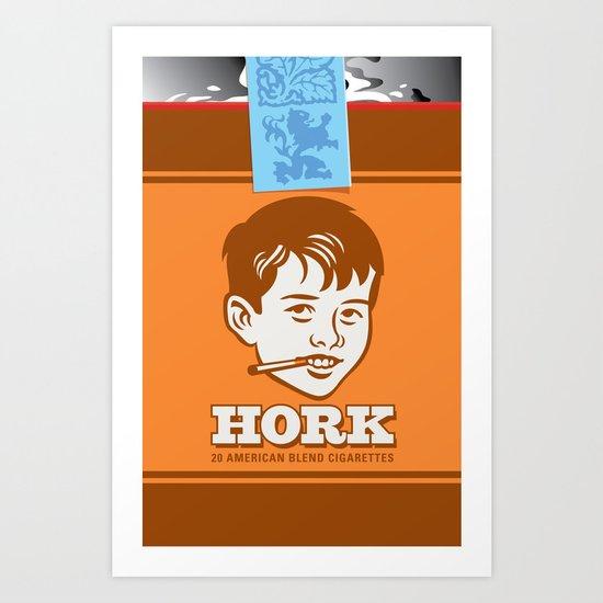 HORK American Blend Cigarettes Art Print