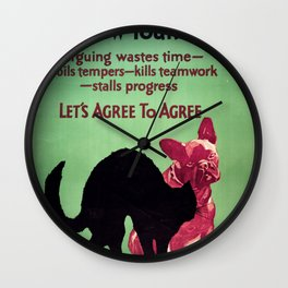 Willard Frederic Elmes - Why bow your back - vintage poster Wall Clock
