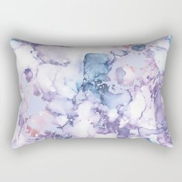 Painted Marble Texture Rectangular Pillow