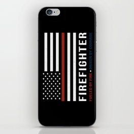 Fueled By Fire (Thin Red Line) iPhone Skin