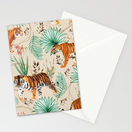 Tropical & Tigers Stationery Cards