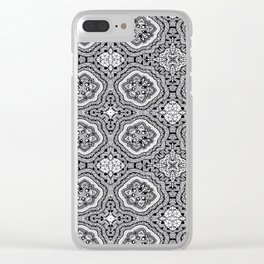 Doodle Pattern 4 Clear iPhone Case