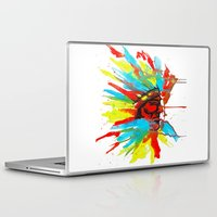 native american Laptop & iPad Skins featuring Native American by ART HOLES