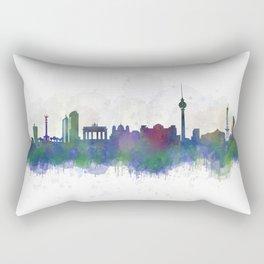 Berlin City Skyline HQ3 Rectangular Pillow