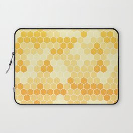 Honeycomb Yellow and Orange Geometric Pattern for Home Decor Laptop Sleeve