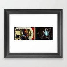 A straight shot to Uranus Framed Art Print