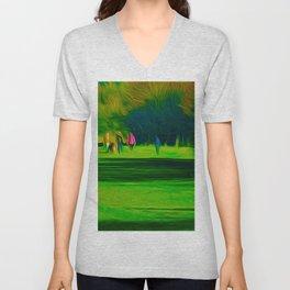 A walk in the park (Digital Art) Unisex V-Neck