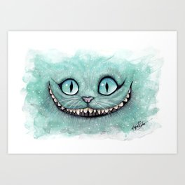 Cheshire Cat - Drawing - Dibujados Art Print