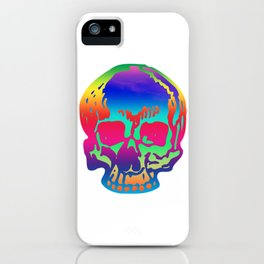 Psychedelic Pirate Skull Color Spectrum, Vibrant Skull, Super Smooth Super-Sharp 7200px x 7200px PNG iPhone Case