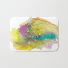 Planes in Watercolor Bath Mat
