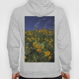 Orange Poppies on the Hill Side Hoody