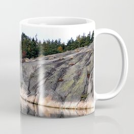 Fall Colors Accentuating Cliff Reflections Coffee Mug