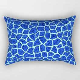 Blue Glitter Giraffe Print Rectangular Pillow