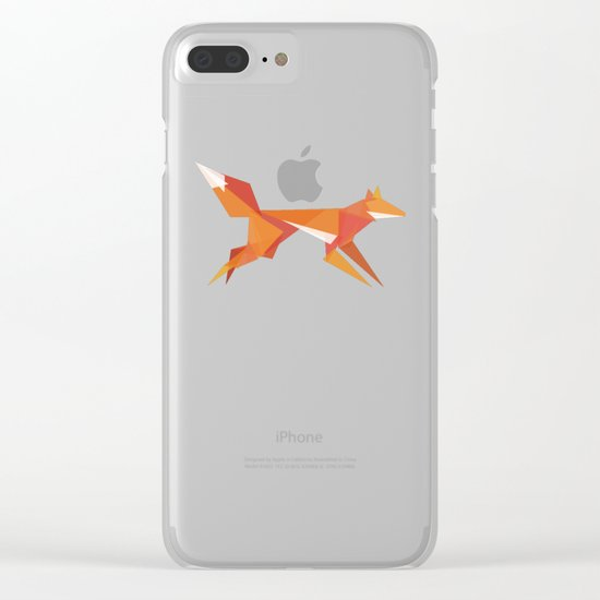Fractal geometric fox Clear iPhone Case