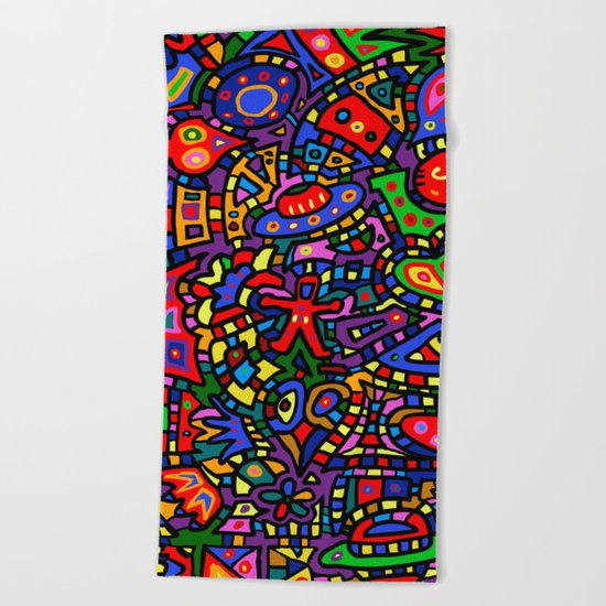 #453 Another Doodle Version 2 Beach Towel
