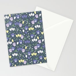 Pansies and crocuses Stationery Cards