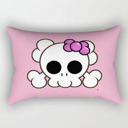 Super Cute Rebel Kawaii Skull Rectangular Pillow