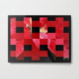 Mottled Red Poinsettia 2 Art Rectangles 15 Metal Print
