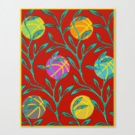 Basketball Flowers Canvas Print