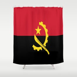 Flag Of Angola Shower Curtain