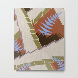 AGONDA Art Deco Modern: BALORAMA LOUNGE Metal Print