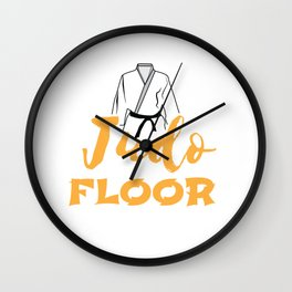 Judo May the Floor With You Martial Art Funny Gift Wall Clock