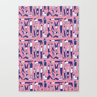 kim sy ok Canvas Prints featuring OK by Regina Rivas Bigordá