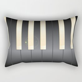 White And Black Piano Keys Rectangular Pillow