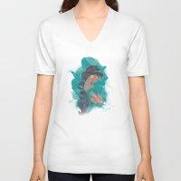 jasmine V-neck T-shirts featuring Jasmine.  by Nic Moore