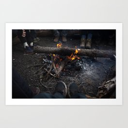 Warmth of the Flame Art Print