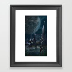Night Outpost Framed Art Print