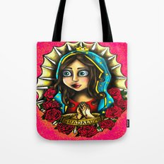 Lady Of Guadalupe (Virgen de Guadalupe) PINK VERSION Tote Bag