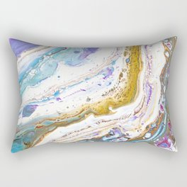 Abstract contemporary painting art, galaxy, fluid painting, space, universe purple pink blue Rectangular Pillow