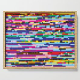 Glitch colorful background Serving Tray