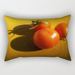 Abstract Tomato Rectangular Pillow