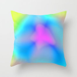 Abstract Colorful Flower Throw Pillow