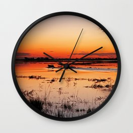 Evening in Africa Wall Clock
