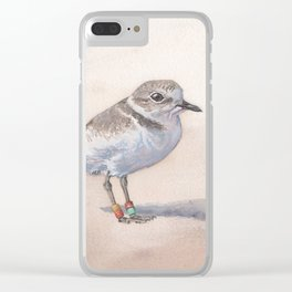 Monterey Bay Snowy Plover Clear iPhone Case