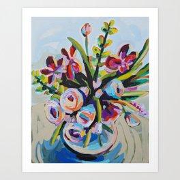 Clothed - Purple Bouquet Art Print