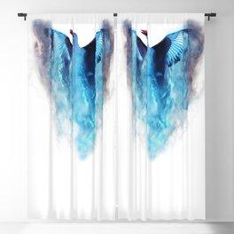 Blue bird in flight Blackout Curtain