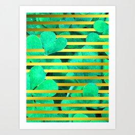 Clover and Stripes Geometric Illustration Art Print