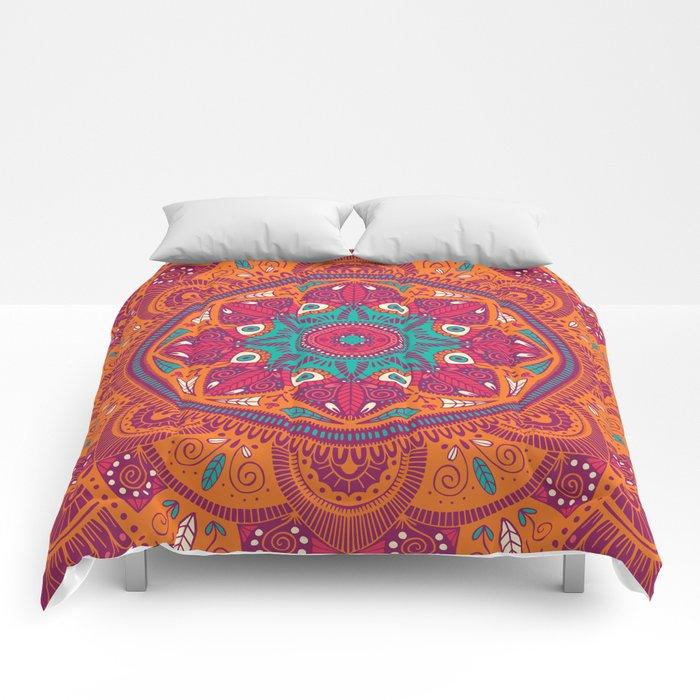 Colorful Mandala Pattern 017 Comforters