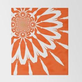 The Modern Flower Orange Throw Blanket