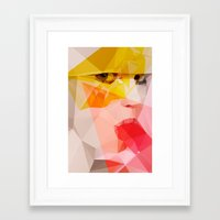 popsicle Framed Art Prints featuring Popsicle by ffffox