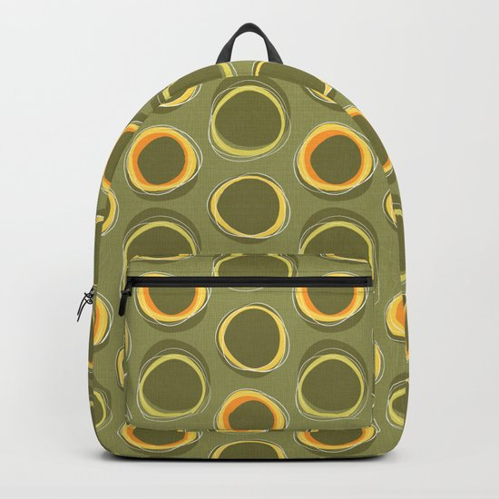 Solar Eclipse MCM Green Backpack