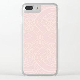 Pink Jungle Clear iPhone Case